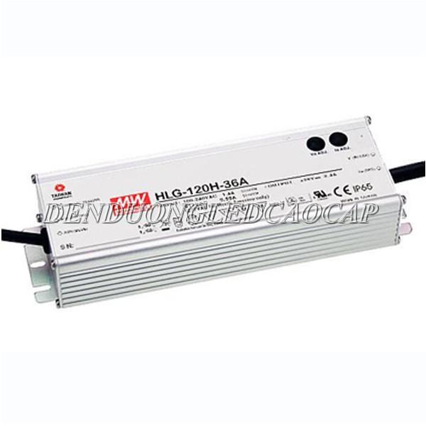 Sản phẩm đèn đường led D9-100 dùng bộ nguồn chính hãng Meanwell