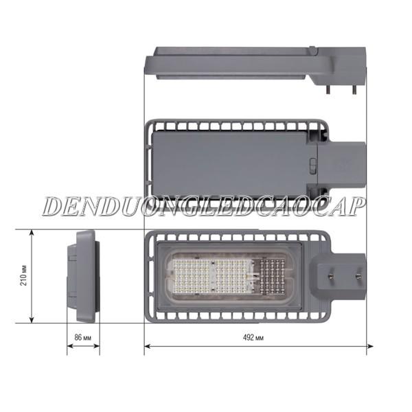 Kích thước đèn Đường LED D12-200
