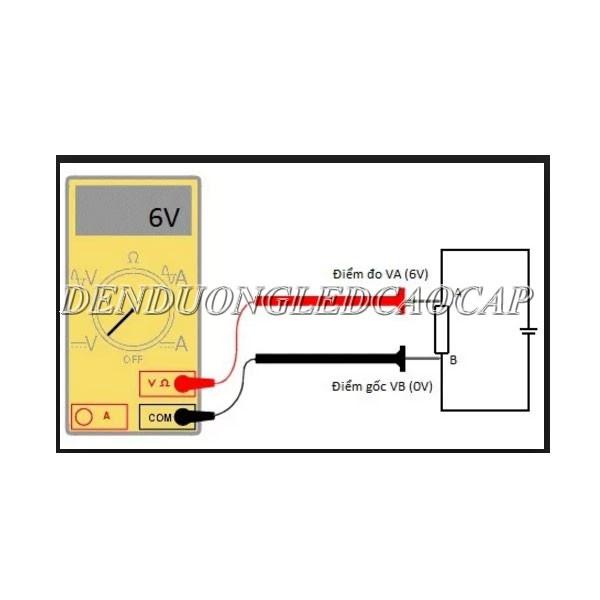 Đo điện áp đèn LED bằng cách dùng đồng hồ vạn năng
