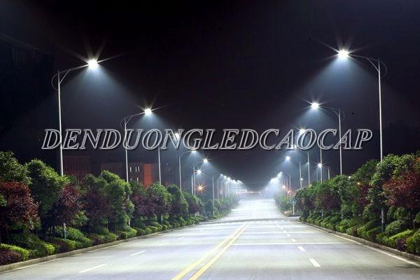 Lắp đặt đèn đường led đối diện hai bên đường