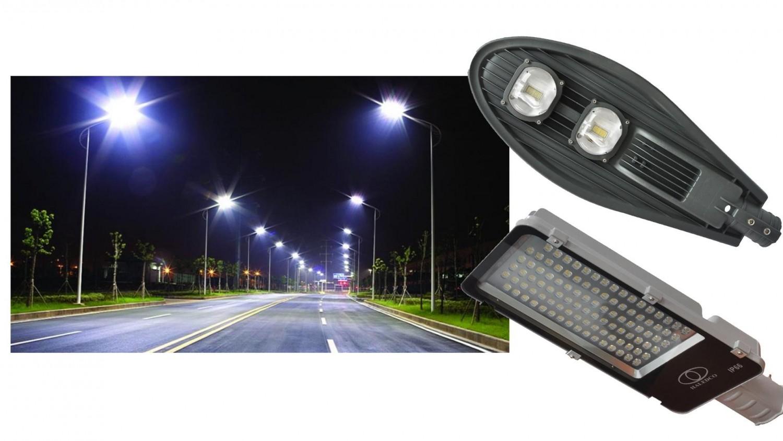 Đèn đường LED 100w tiết kiệm điện, an toàn chiếu sáng, độ bền cao