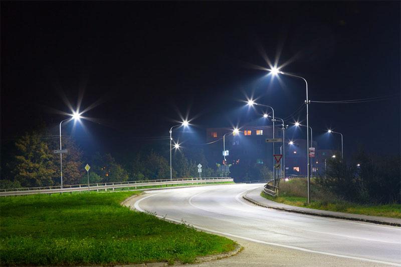 Đèn đường LED 75w chiếu sáng đường đi KCN