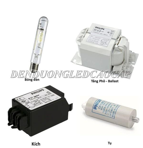Bộ đèn cao áp Philips 400W metal kết hợp sử dụng tăng phô và tụ kích điện chiếu sáng