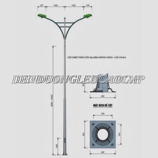 Thiết kế cột đèn chiếu sáng 10M